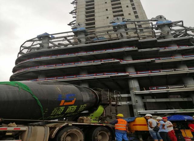 华侨城宜宾中心超高层项目核心筒浇筑